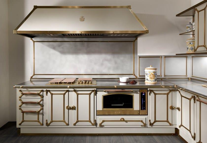 Cucina con maniglie LIGHT BEIGE - Officine Gullo