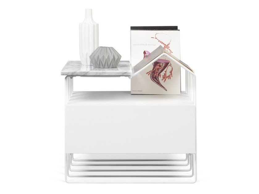Rectangular bedside table DOMI by TemaHome