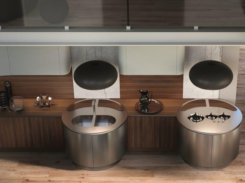 Cucina lineare in legno DOMINA | Cucina lineare by Aster Cucine