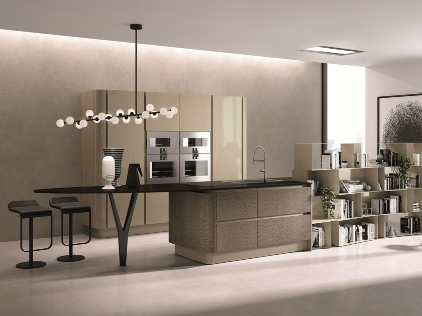 Lacquered kitchen with island DOMINA | Kitchen with island - Aster Cucine