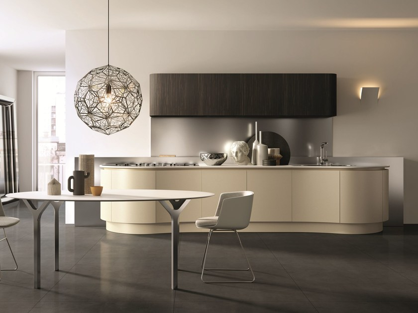 Lacquered linear kitchen DOMINA | Linear kitchen - Aster Cucine