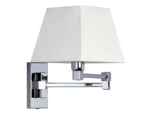 Canvas wall light with swing arm DOMINIQUE 15-30 - Quicklighting
