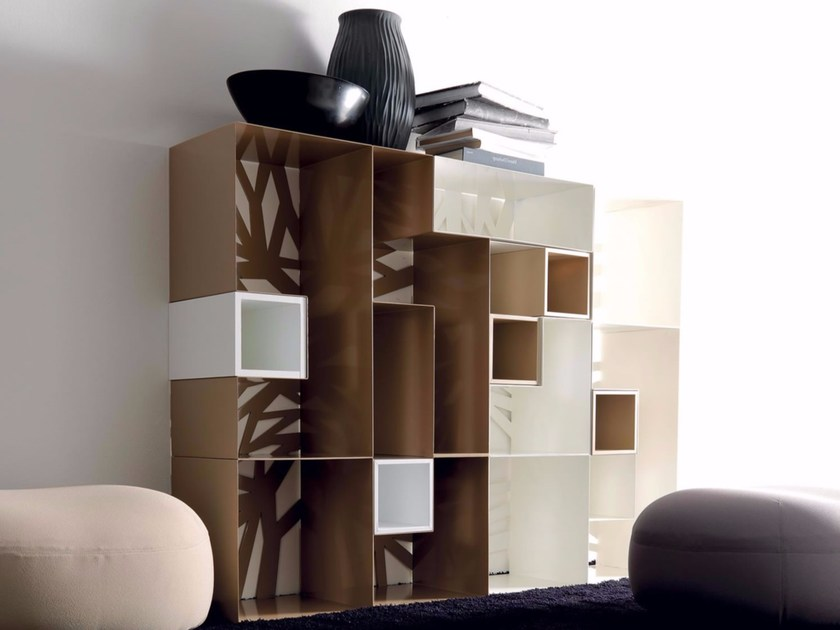 Open freestanding sectional bookcase DOMINO | Bookcase by Esedra