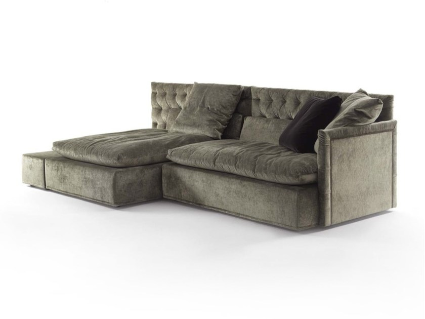 Tufted sectional fabric sofa DOMINO CAPITONNE' | Fabric sofa - FRIGERIO POLTRONE E DIVANI