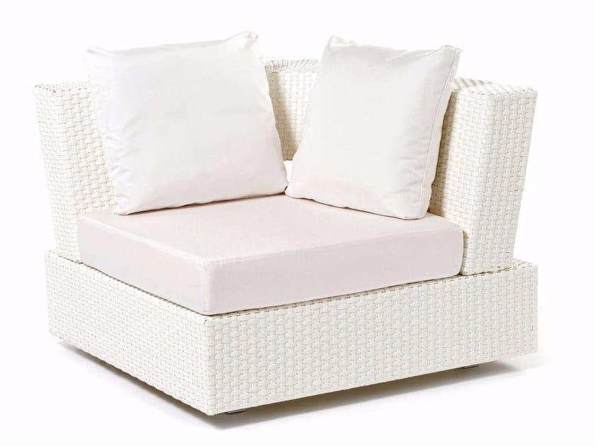 Hand woven man-made fibre corner armchair DOMINO   Corner armchair - Varaschin