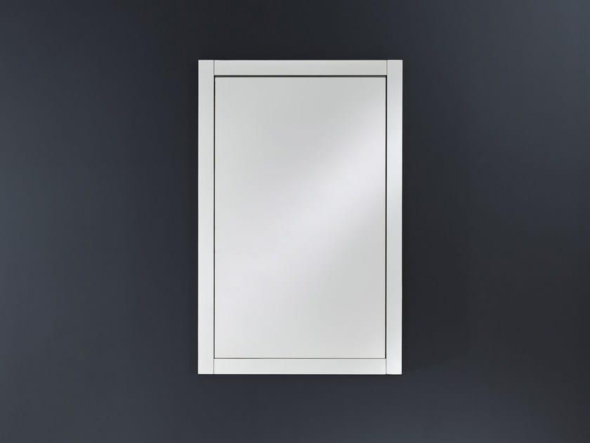 Rectangular wall-mounted framed mirror DOMINO MIRROR - DEKNUDT MIRRORS