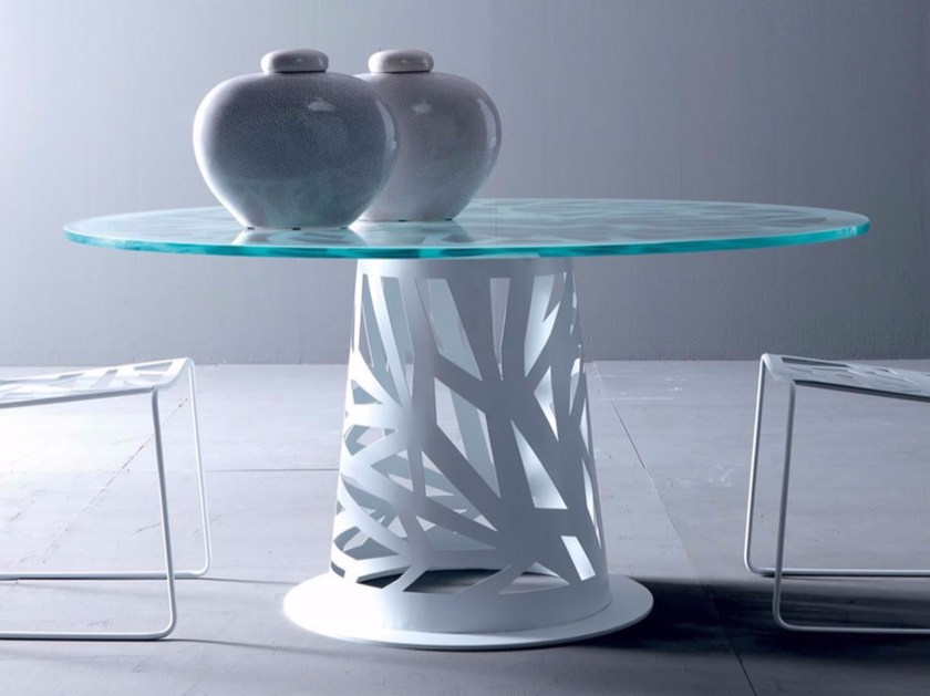 Round plate table DOMINO | Table by Esedra