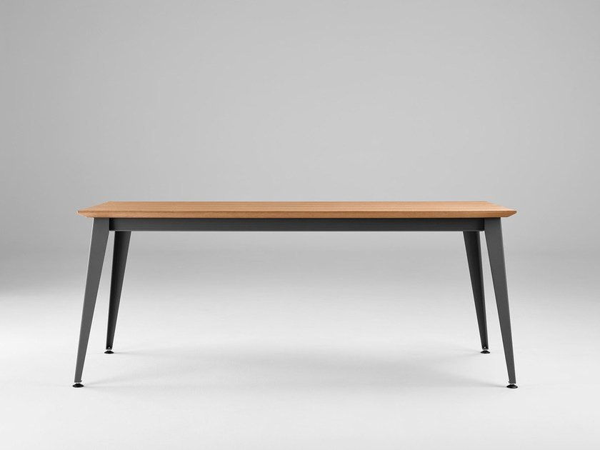Extending rectangular wooden dining table DON | Extending table - ONDARRETA