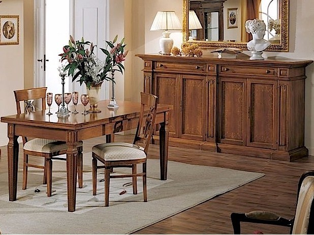 Extending walnut table DONATELLO | Table - Arvestyle