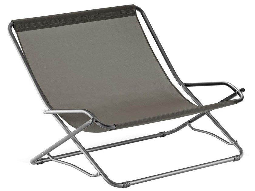 Synthetic material deck chair with armrests DONDOLINA TWIN by FIAM