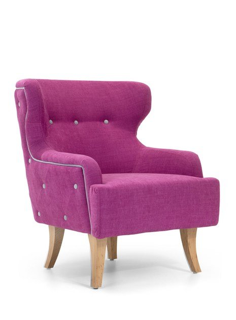 Tufted fabric armchair DONNA SMALL | Wingchair - Domingo Salotti