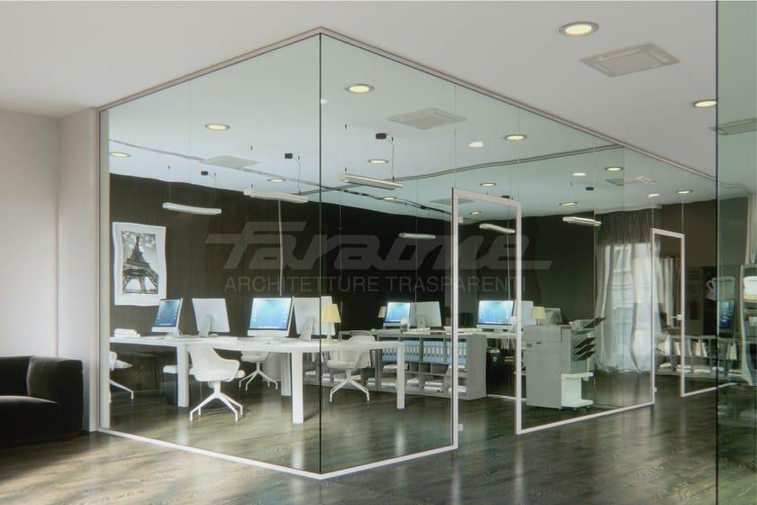 Parete mobile in metallo per ufficio porte e divisori by for Divisori per ufficio