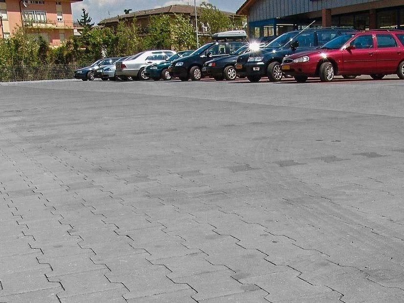 Concrete paving block DOPPIA T sharp edge - FERRARI BK