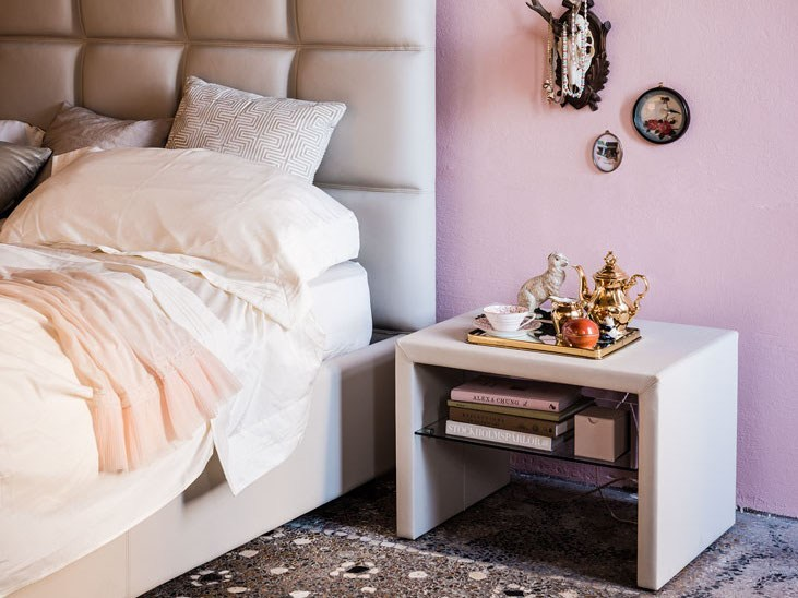 Leather bedside table DORIAN - Cattelan Italia