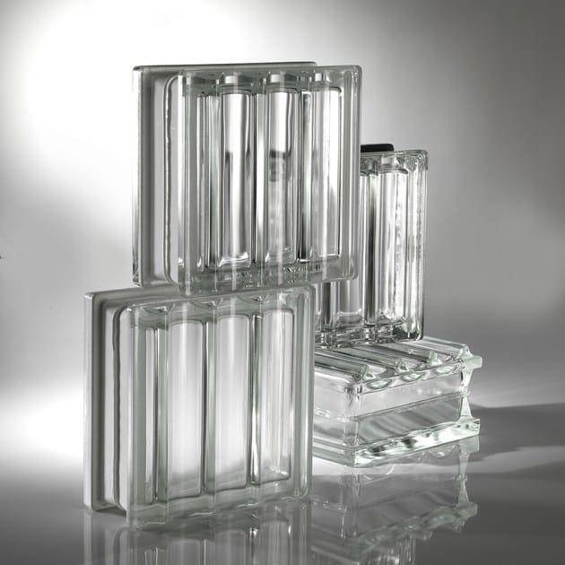 Blocco con superficie tridimensionale in vetro per interni/esterni ...