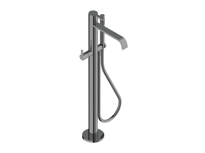Floor standing bathtub mixer with hand shower DOROTEA   Floor standing bathtub mixer - Signorini Rubinetterie