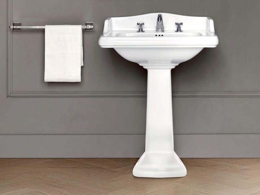 Pedestal ceramic washbasin DOROTHY | Pedestal washbasin by BATH&BATH