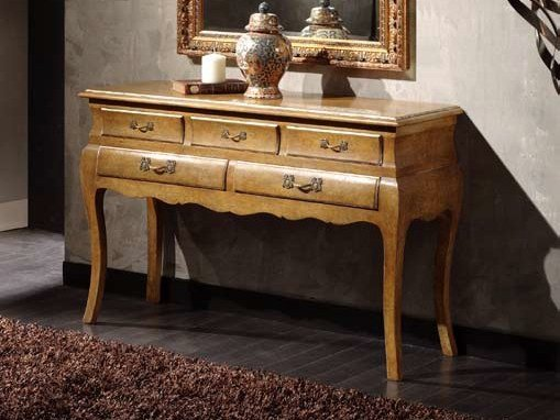Solid wood console table with drawers DOROTY | Console table - Arvestyle