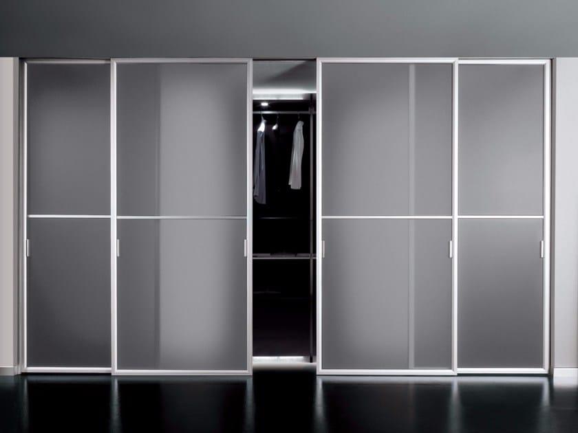 Glass and aluminium sliding door DORSIA | Sliding door - RES