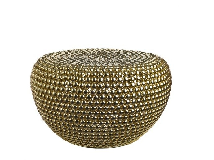 Pouf in metallo DOT BRASS LOW - Pols Potten