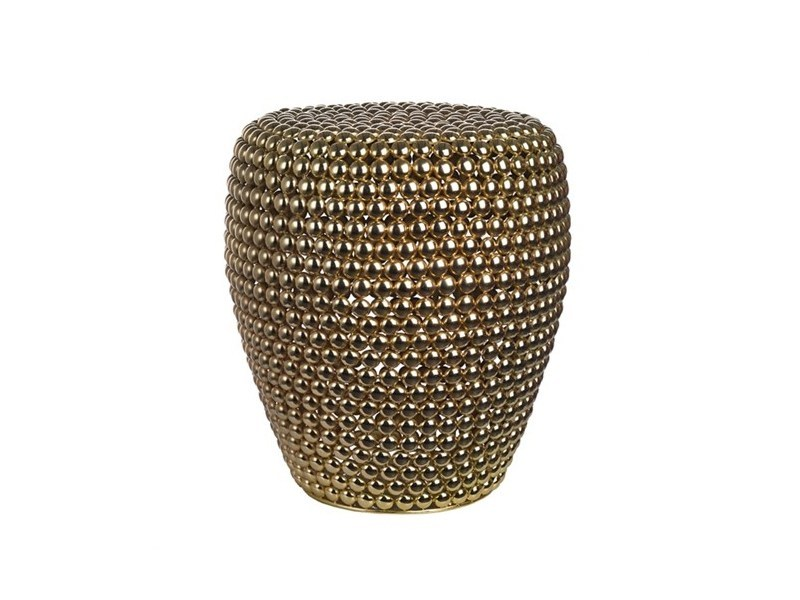 Metal stool DOT BRASS - Pols Potten