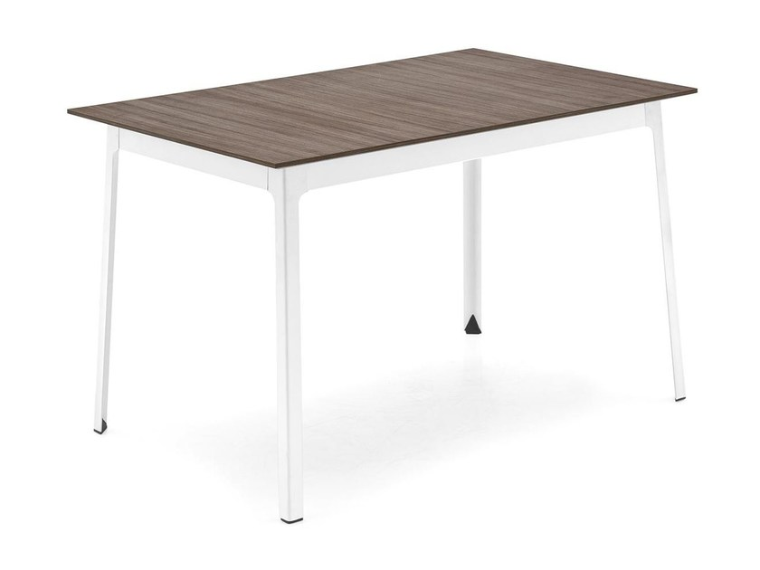 Rectangular steel and wood table DOT | Rectangular table by Calligaris