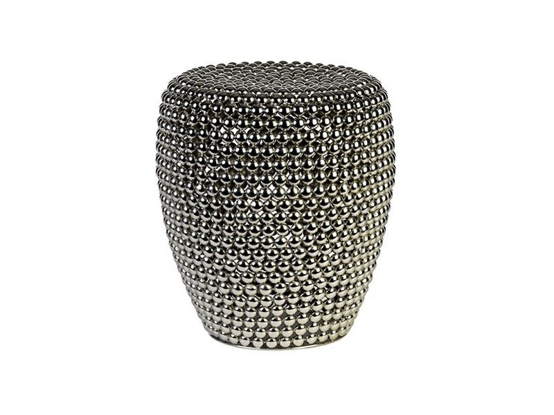 Metal stool DOT SILVER - Pols Potten