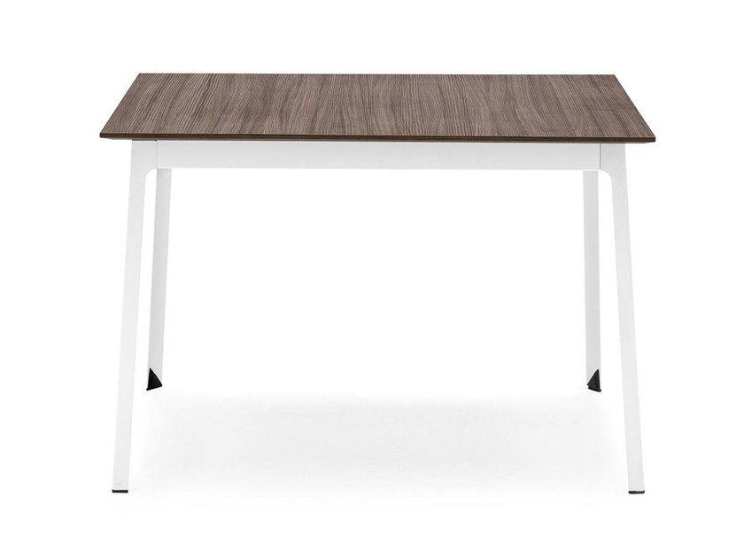 Square steel and wood table DOT | Square table - Calligaris