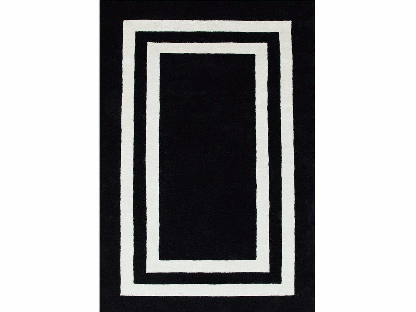 Rug with geometric shapes DOUBLE BORDER - Jaipur Rugs