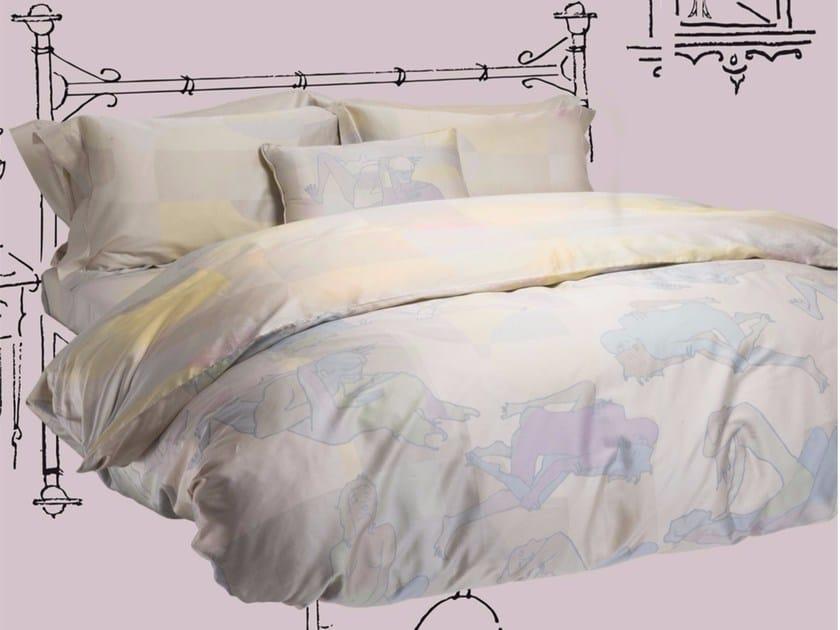 Cotton bedding set DOUBLE LIFE KING SET - Button flap - sans tabù