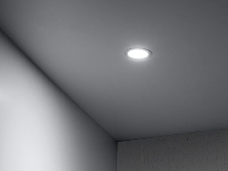 LED painted metal spotlight for false ceiling DOWNLIGHT 40T by Lombardo