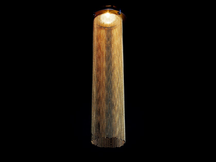 Drum shaped lampshade DOWNLIGHT RETROFIT by Willowlamp