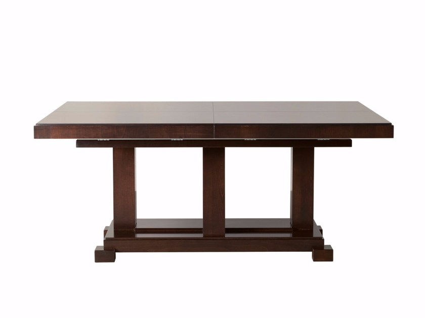 Extending rectangular wooden table DOWNTOWN | Dining table - SELVA