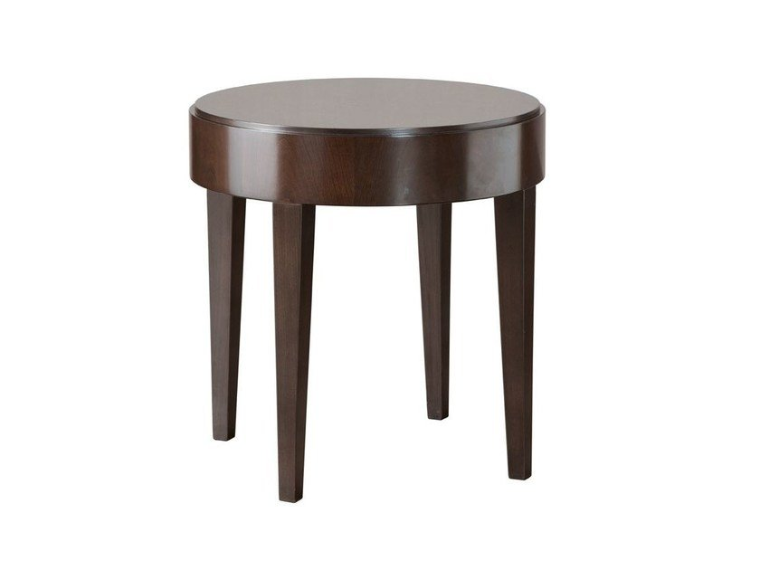 Lacquered round coffee table for living room DOWNTOWN | Round coffee table - SELVA