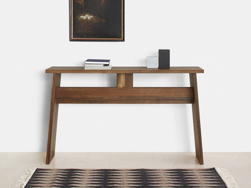 Rectangular solid wood console table DRAYTON | Solid wood console table - e15