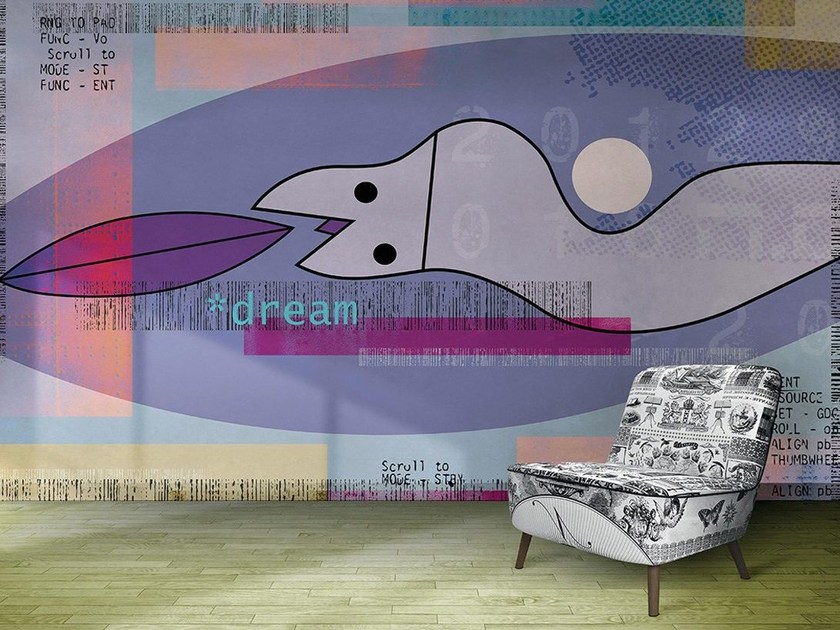 Writing vinyl wallpaper DREAM by N.O.W.  Edizioni