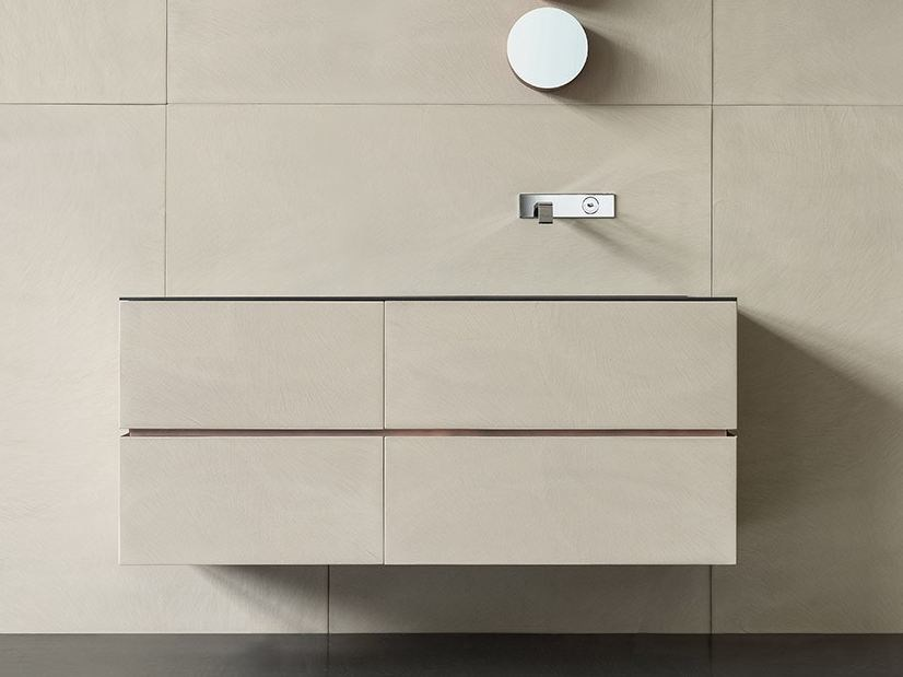 Wall-mounted vanity unit with drawers DRESSCODE by Moab80