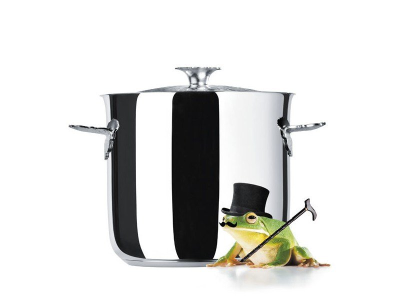 Stainless steel pot for induction cooking DRESSED | Stainless steel pot - ALESSI