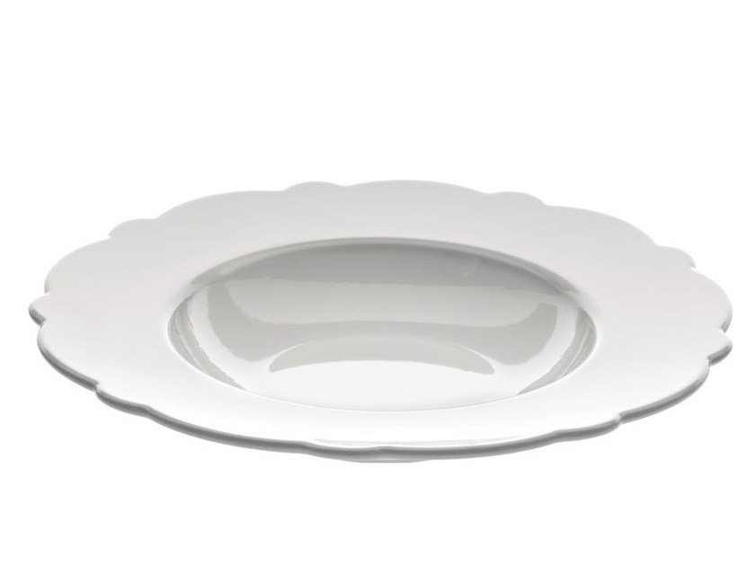 Porcelain plate DRESSED | Deep plate - ALESSI