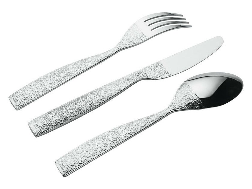 Stainless steel cutlery set MW03S24 | Cutlery set - ALESSI