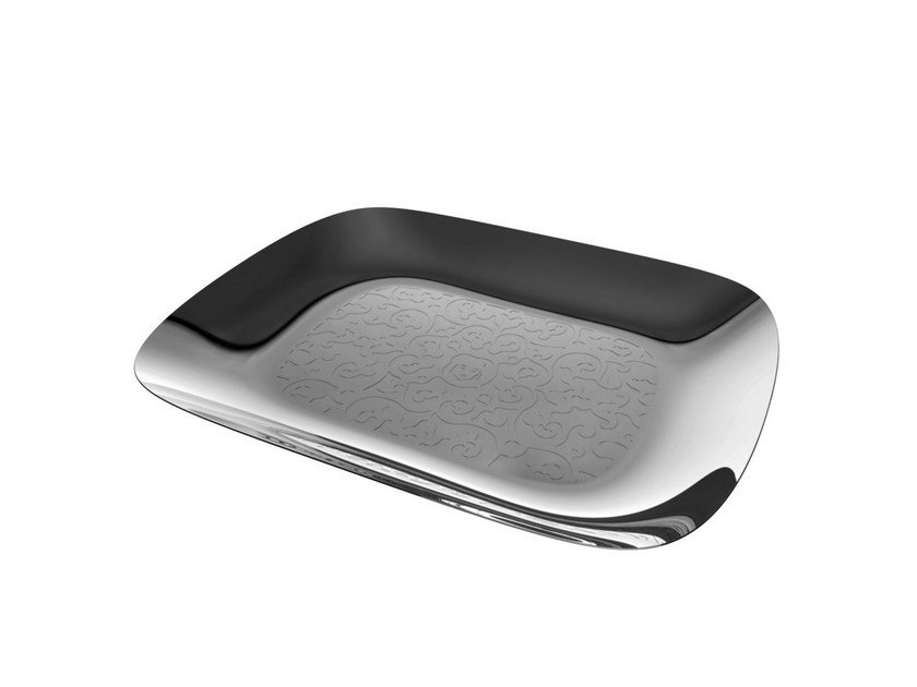 Stainless steel tray DRESSED | Tray - ALESSI