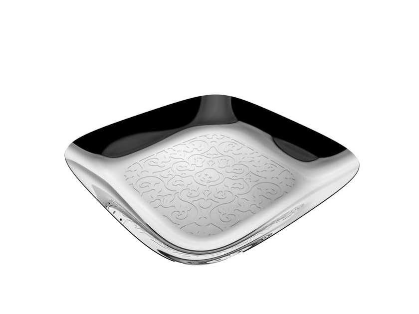 Stainless steel tray DRESSED | Stainless steel tray - ALESSI
