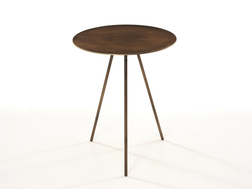 Round brass side table for living room DRIP | Brass coffee table by more