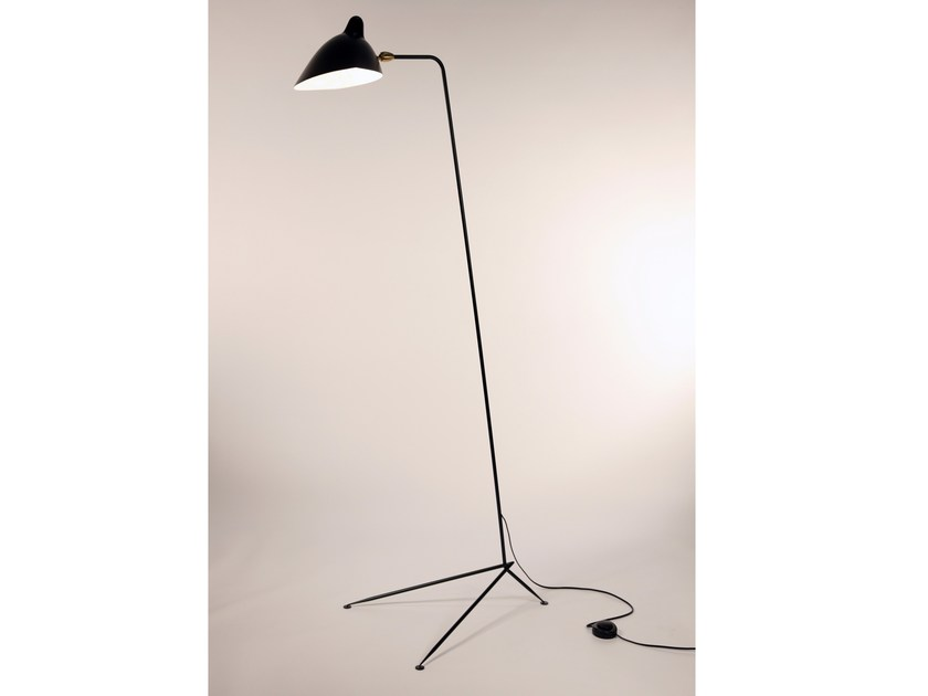 Adjustable metal floor lamp LD | Floor lamp by Serge Mouille