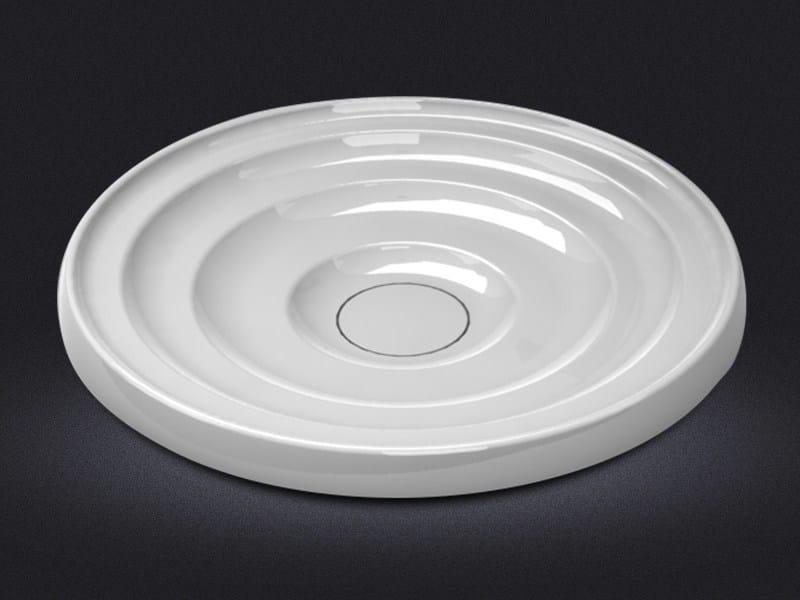 Countertop round resin washbasin DROP - Vallvé Bathroom Boutique