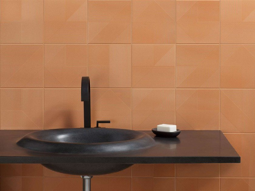 Washbasin with integrated countertop WAVE by Harmony