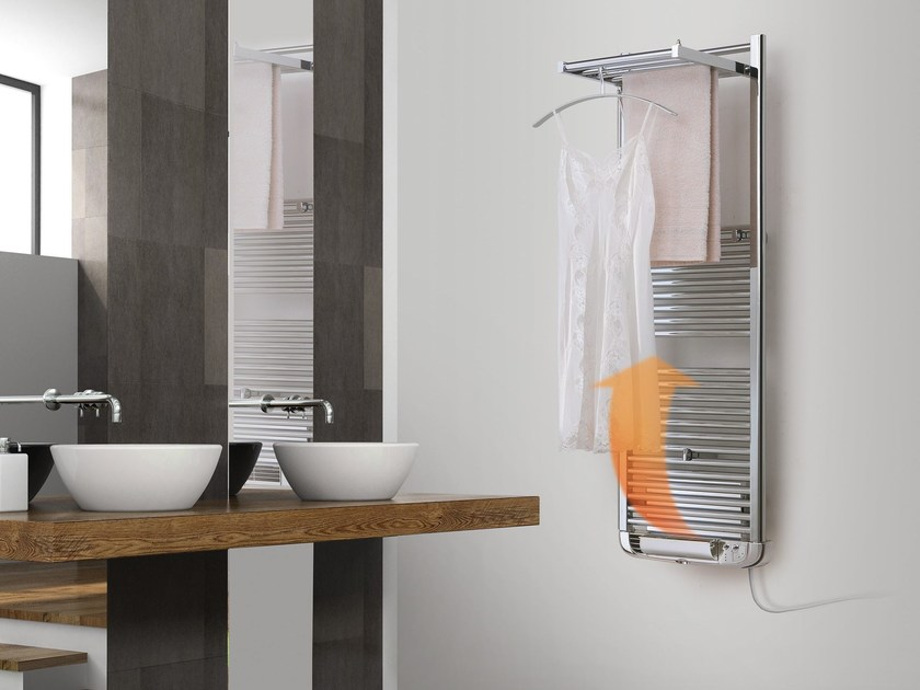 Dual energy wall-mounted towel warmer DRYER PLUS ELECTRIC by DELTACALOR
