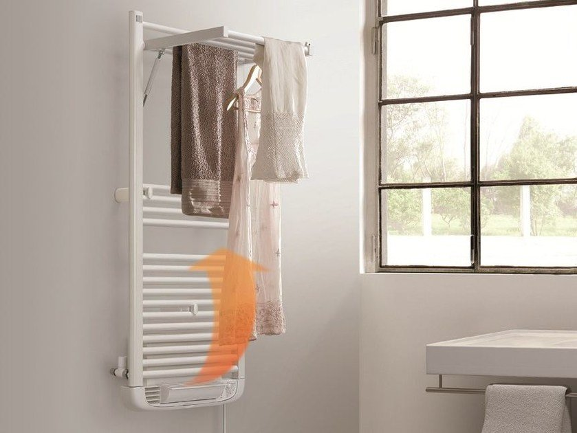 Hot-water wall-mounted towel warmer DRYER PLUS MISTO - DELTACALOR