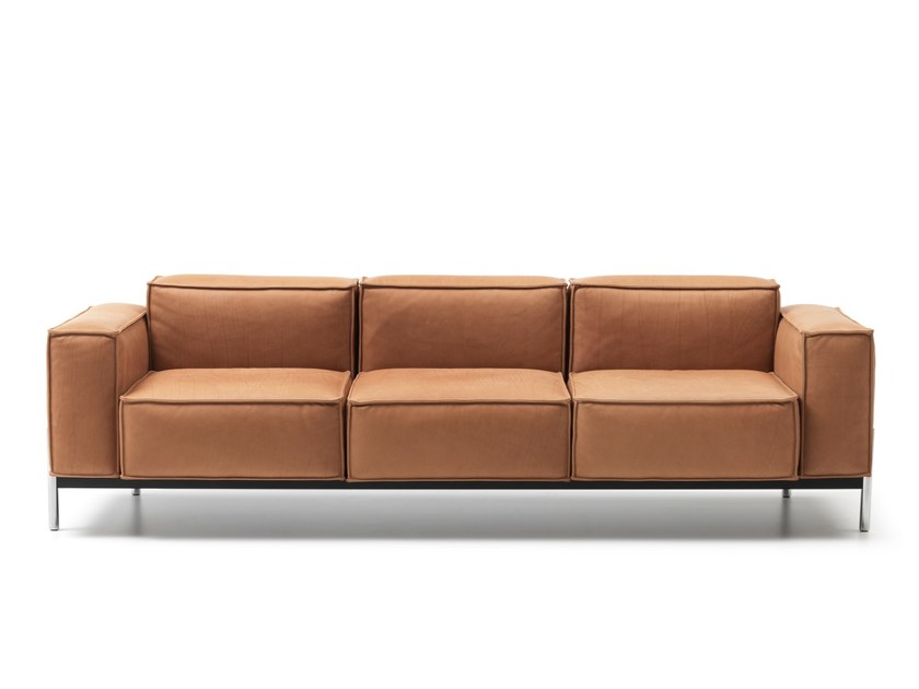 3 seater leather sofa DS-21 | 3 seater sofa - de Sede