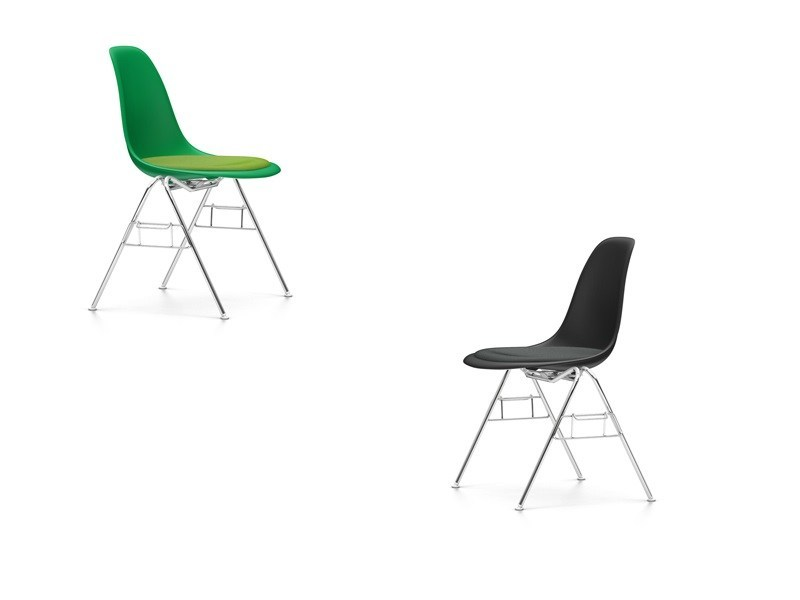 Stackable polypropylene training chair DSS-N | Stackable training chair - Vitra